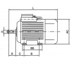 Engine 0.25 kW 230V B3/3000/63