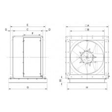 CHGT4-450-6/-0,55 Axial Fan 4 poles