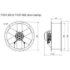 THGT4-560-6/-0,55 Axial Fan 4 poles