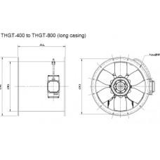 THGT4-400-6/-0,55 Axial Fan 4 poles